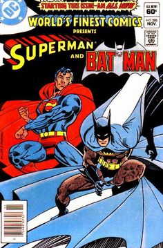 Batman V. Superman got you hungry for more cape v. World's Finest, featuring Batman and Superman, is on sale now! Check out these iconic covers by Frank Miller, Dick Giordano, Ed. Batman Vs Superman, I Am Batman, Dc Comics Superheroes, Batman Comics, Comic Book Covers, Comic Books Art, Comics Universe, Planet Comics, Classic Comics