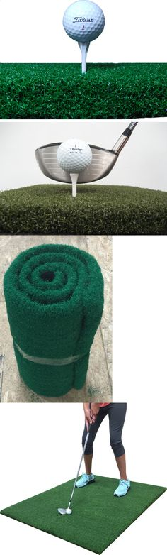 Golf Driving Range - Nets Cages and Mats 50876: 48 X 48 Golf Chipping Driving Range Practice Mat - Holds A Wooden Tee -> BUY IT NOW ONLY: $79.99 on eBay!