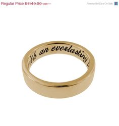 Metal Pressions Solid 14K Gold Ring Personalized - Daily Deal SALE