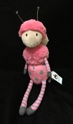 Jellycat Bugbelle Butterfly Plush Soft Toy Pink Wings Dot Stripe Antennae New #jellycat