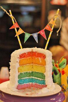 I love rainbow cakes! #rainbow #cake