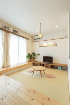 Attic Design, Interior Design, Washitsu, Tatami Room, Small Kitchen Organization, Built In Seating, Minimalist Apartment, Living Spaces, Living Room