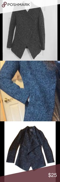 Gray and black tweed jacket Bought new off posh but was too small on me. Worn once, Tag says M but fits small/x-small. I think it is Asian sizing or juniors. Jackets & Coats