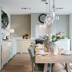 New Kitchen Cabinet Doors. Unique New Kitchen Cabinet Doors. New Kitchen Cabinet Doors, Sage Green Kitchen, Cream Country Kitchen, Family Room Design, Cuisines Design, Home Decor Inspiration, Kitchen Inspiration, Design Inspiration, Decoration