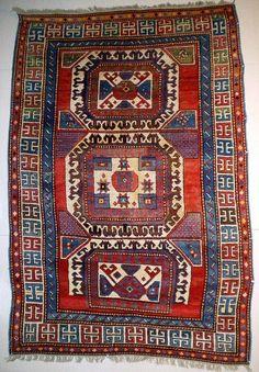 Caucasian Kazak Karachov rug, early 19th c
