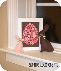 Auntie Lolo Crafts: A Button Egg and Stuffed Bunnies!