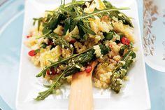 Kijk wat een lekker recept ik heb gevonden op Allerhande! Couscoussalade met groene asperges en basilicum
