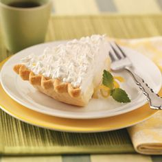 Another Sour Cream Lemon Pie, this one with whipping cream on top rather than meringue.
