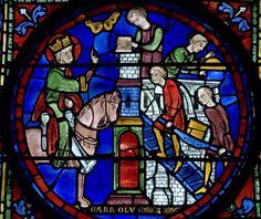 Charlemagne supervisant la construction d'une église (cathédrale de Chartres)