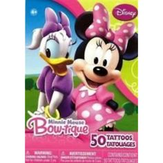 Disney Minnie Mouse Bow-tique Set of 50 Tattoos ~ Minnie and Daisy Memories by Disney -- More info could be found at the image url. (This is an affiliate link) #ActionFiguresStatues