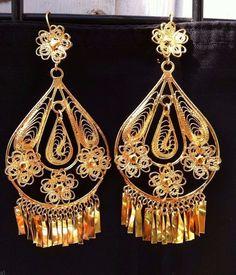 Mexican Filigree Earrings Handmade from Oaxaca Style#MG7912.Aretes de Filigrana. #handmade