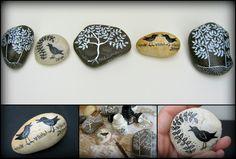Painted Rocks by Dar Hosta