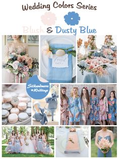 Blush and Dusty Blue Wedding Color Combos