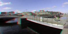 https://flic.kr/p/23GTend   Fietsers Delft 3D GoPro   anaglyph stereo red/cyan