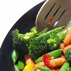 Stir-Fry with Orange Juice Sauce Recipe:Here's a perfect weekday dinner recipe from Florida's Natural®.  It's full of colorful vegetables mixed with a healthy sauce, and it's a cinch to prepare.