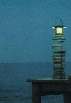 Quint Buchholz   Leuchtturm Books, the sea and moon light. Ahhh