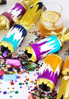 DIY Ikat Christmas Cracker Party Favor