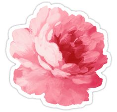 Flower – beautiful peony. Pink color flower. / Beautiful sticker and beautiful gift / BUY TODAY! / Please visit my bonanza shop - / http://www.bonanza.com/booths/ArtBeautifulCloth • Also buy this artwork on stickers, apparel, phone cases, and more.