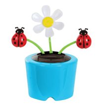 Bulk Plastic Solar-Powered Dancing Daisies with Bugs at DollarTree.com
