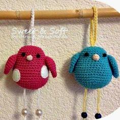 Patrones Amigurumi: Pajaritos de crochet