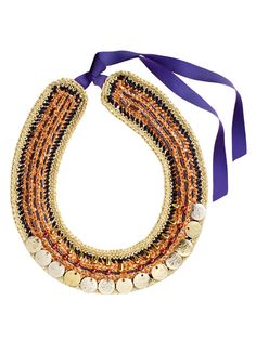 DIY: crocheted necklace ✿⊱╮Teresa Restegui http://www.pinterest.com/teretegui/✿⊱╮