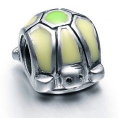 Sterling Silver Turtle Enamel Beads Charms  Fit pandora,trollbeads,chamilia,biagi and any customized bracelet/necklaces. #Jewelry #Fashion #Silver# handcraft #DIY #Accessory
