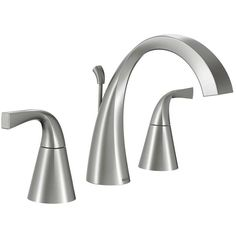 Moen Oxby Spot Resist Brushed Nickel 2-Handle Widespread WaterSense Bathroom Faucet (Drain Included)