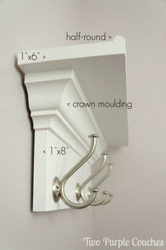 Check it out Make your own wall shelf for bedroom, bathroom, kitchen or entryway! DIY shelf with hooks via www.twopurplecouc… The post Make your own wall shelf for bedroom, bathroom, kitchen or entryway! DIY shelf w… appeared first on Etty Hair Saloon . Wall Shelf With Hooks, Diy Wall Shelves, Shelving Ideas, Shelf Ideas, Storage Ideas, Wood Shelf, Coat Rack With Shelf, Decorative Wall Shelves, Floating Shelves