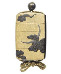 A rare lacquer and kiri-wood four-case inro By Shibata Zeshin (1807-1891), Meiji Period