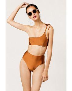 5a2aa7dce26bf MIDSOMMAR SWIM | Brown Abbot High Waisted Bottom | Lyst High Rise Bikini,  Bikini Bottoms