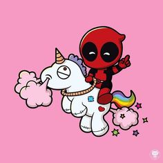 "kumaoso: "" Happy V-Day! From CAPTAIN Deadpool  #deadpool #marvel #vector #illustration #kumaoso #chibibomb #vxvph """