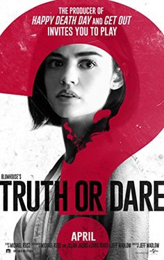 First trailer, poster, and new photos from 'Truth or Dare,' the horror thriller starring Tyler Posey and Lucy Hale. Tyler Posey, Truth Or Dare Online, Truth And Dare, Imdb Movies, 2018 Movies, Movies Online, Full Movies Download, Nolan Gerard Funk, Horror Films