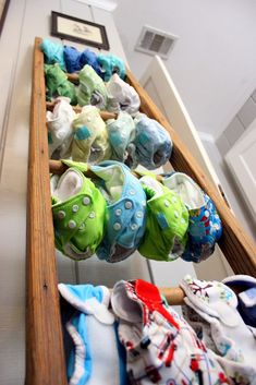 love diapers on the ladder - hang to dry and take off to use, shows how cute they are! Cloth Diapers - Little House in the Big D: Nursery Finale Cloth Diaper Organization, Cloth Diaper Storage, Nursery Organization, Cloth Diapers, Hippie Nursery, Couches, Pvc Hose, Everything Baby, Baby Store