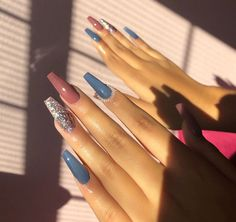 Untitled Claw Nails, Aycrlic Nails, Dope Nails, Hair And Nails, French Acrylic Nails, Best Acrylic Nails, Summer Acrylic Nails, Gorgeous Nails, Pretty Nails