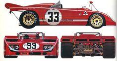 Alfa Romeo 33TT 3 1971-1972 alpha auto c.1974