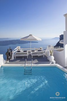 Volcano views from the On the Rocks Hotel in Santorini