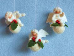 Drie kerstbal engeltjes van Pippilotta