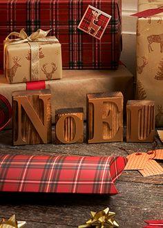 'Noel' Letter Blocks (25cm x 10cm) - Matalan