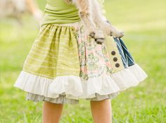 """Persnickety """"Bo Peep"""" Mixed Print Shirley Skirt"""