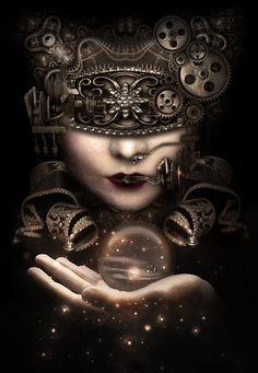 The fortune teller at ~Bienvenue sur le Cirque de la Nuit~