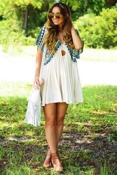 Float Away Dress: Cream/Multi #shophopes