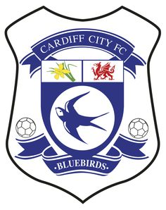 Let's go Bluebirds! Championship Football, Football Team Logos, Sports Team Logos, Football Uniforms, English Football Teams, Welsh Football, British Football, Cardiff City Football, Cardiff City Fc