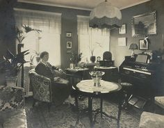 A typical Danish interior in the 1920s