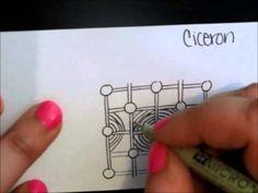 Ciceron | Tangle Tutorial - YouTube Tiffany Lovering