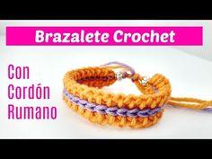 Cómo tejer pulsera crochet - YouTube