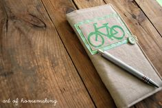 diy notepad cover: i would certainly like to make one to spruce up my journals!