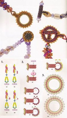 Beaded Earrings Patterns, Beaded Jewelry Designs, Bead Loom Patterns, Bead Jewellery, Seed Bead Jewelry, Jewelry Making Beads, Jewelry Patterns, Beading Patterns, Beaded Bracelets