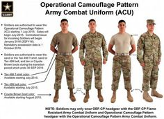 """Photo: US Army After four long years of research and testing, the U. Army has officially unveiled its newest iteration of camouflage. It's called """"Operational Camouflage"""". Us Army Uniforms, Army Combat Uniform, America's Army, Army Camo, Army Soldier, Military Army, Military Life, Military Clothing, Military History"""