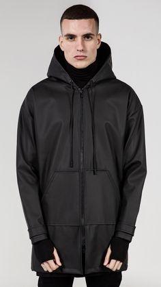 Rubberised Jacket - Matte Black | REPRESENT CLO