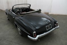 1960 Mercedes-Benz 190SL – an original 040 black with red interior car, comes with a soft top, missing the head and is an excellent candidate for restoration. For $49,500  If you have any additional questions Please call 310-975-0272